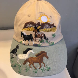 Embroidered Horses Ball Cap OS